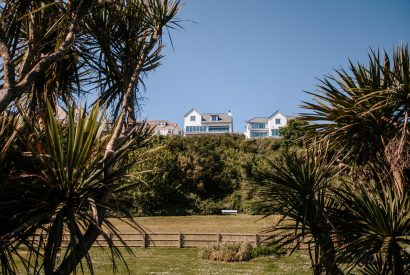 View from the beach of Weaver's View a self-catering holiday home in Polzeath, North Cornwall