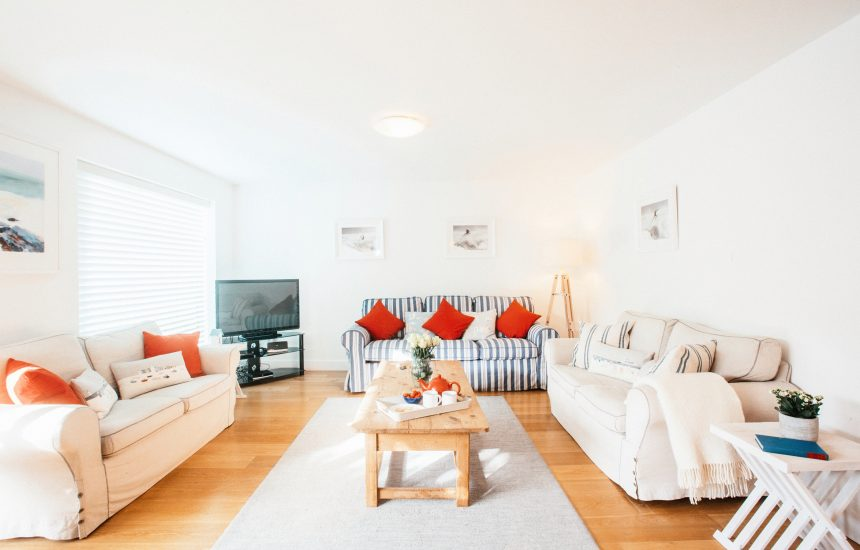 Lounge at Ambrose, a self-catering holiday cottage in Polzeath, North Cornwall