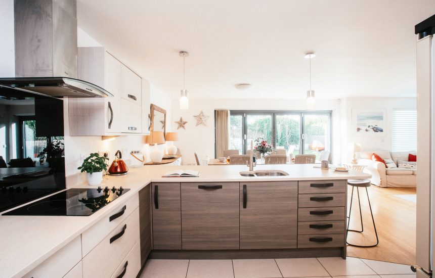 Kitchen at Ambrose, a self-catering holiday home in Polzeath, North Cornwall