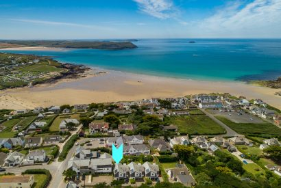 Aerial view of Clifden, a self-catering holiday home in New Polzeath, North Cornwall