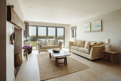 Living room at Compit, a self-catering holiday cottage in Polzeath, North Cornwall