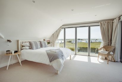 Bedroom two (master) at Compit, a self-catering holiday home in Polzeath, North Cornwall