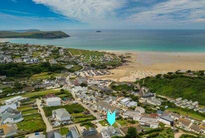 Aerial view of Cothelstone, a self-catering holiday home in Polzeath, North Cornwall
