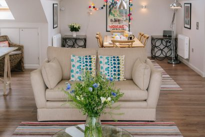 Living room at Cothelstone, a self-catering holiday home in Polzeath, North Cornwall