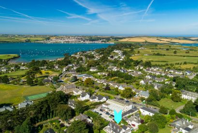 Aerial view of Fairfax, a self-catering holiday home in Rock, North Cornwall