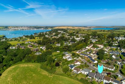Aerial view of Hawkers, a self-catering holiday home in Rock, North Cornwall