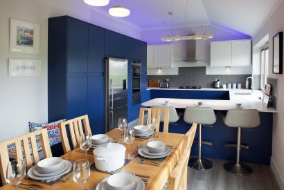 Kitchen and dining room at Hawkers, a self-catering holiday cottage in Rock, North Cornwall