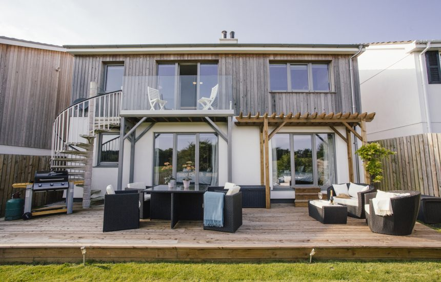 Back view of Hawkers, a self-catering hoiday home in Rock, North Cornwall