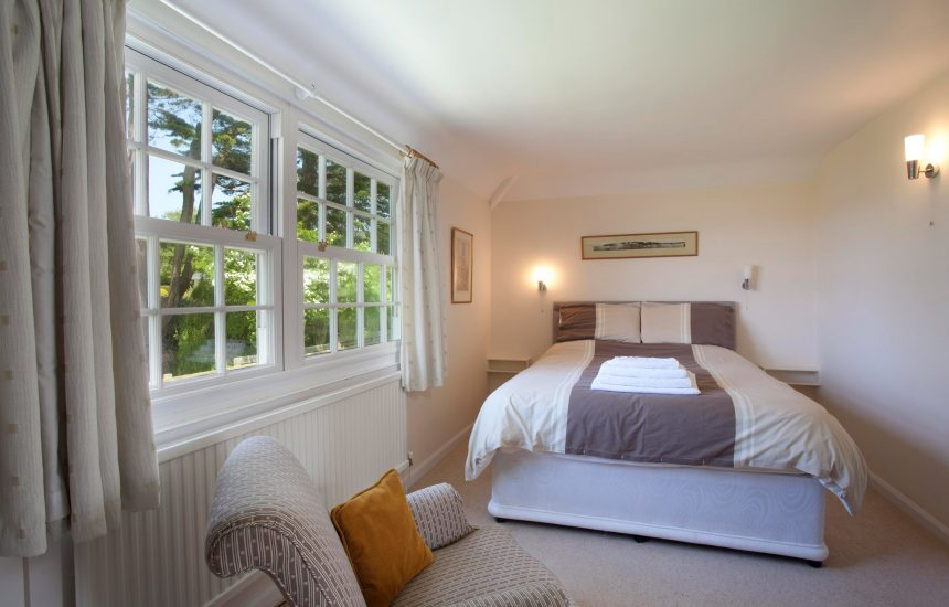 Bedroom one (master) at Little Lynam, a self-catering holiday home in Rock, North Cornwall