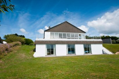 Exterior of Mullets a self-catering holiday property in Porthilly, North Cornwall