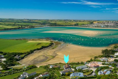 Aerial view of Mullets, a self-catering holiday home in Rock, North Cornwall