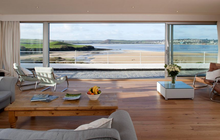 View from lounge of Mullets, a self-catering holiday home in Rock, North Cornwall