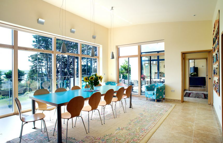 Dining room at Radoon, a self-catering holiday home in Rock, North Cornwall