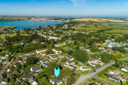 Aerial view of Rockhaven Manor, a self-catering holiday home in Rock, North Cornwall