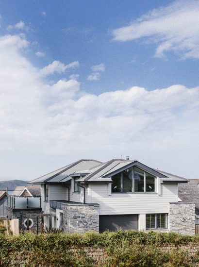 Front of Rosemar, a self-catering holiday house in New Polzeath, North Cornwall