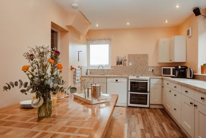 Kitchen at Seaview, a self-catering holiday home in Polzeath, North Cornwall