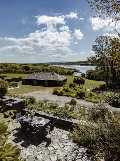 View from The Farmhouse, a self-catering holiday home on Cant Farm near Rock, North Cornwall