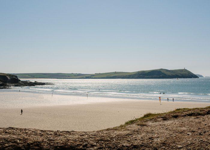 Polzeath Beach in North Cornwall