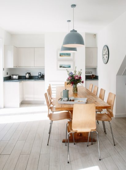 Dining room at Upper Pen-y-Bryn, a self-catering holiday home near Daymer Bay, North Cornwall