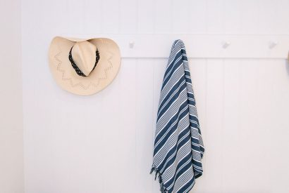 Coastal themed cloakroom at Vinnick Rock, a self-catering holiday home in Polzeath, North Cornwall